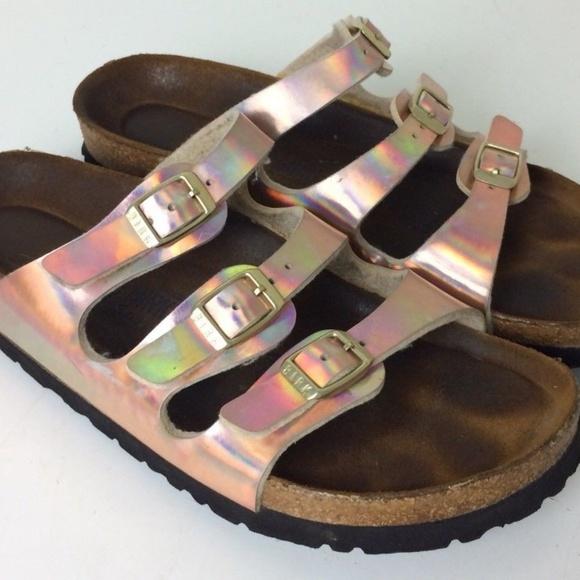 a177c3bea59 Birkenstock Shoes - Birkenstock Florida Iridescent Birko Flor Sandals